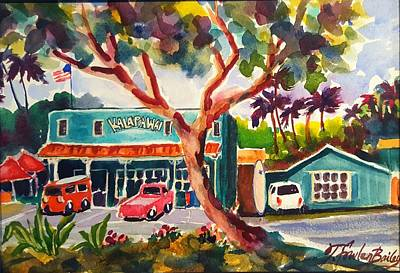 Painting - Kalapawai Mkt  Kailua by Therese Fowler-Bailey