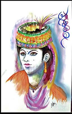 Syeda Ishrat Painting - 'kalash Girl' by Syeda Ishrat
