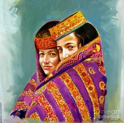 Kalash Painting - Kalash Girls Beauty  by Zohaib Ahmed