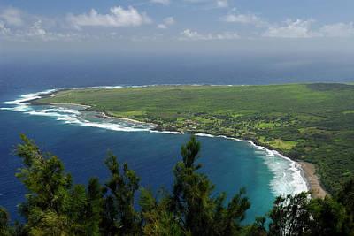 Hawaii Photograph - Kalaupapa Leper Colony On Molokai From The Cliff Edge Overlook by Reimar Gaertner
