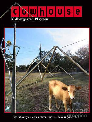Cowhouse Digital Art - Kalbergarten Playpen No. I by Geordie Gardiner
