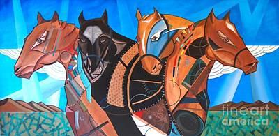 Painting - Kaleden Spirit Horse by John Lyes