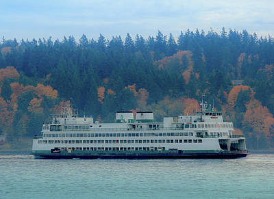 Photograph - Kaleetan - Washington State Ferry by E Faithe Lester