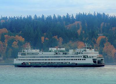 Photograph - Kaleetan - Washington State Ferry by E Faithe Lester