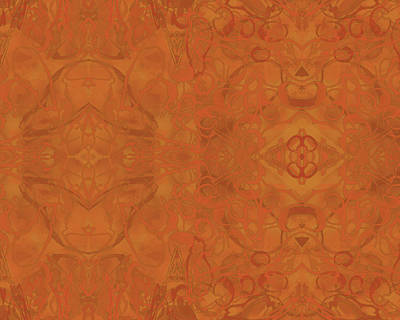 Digital Art - Kaleid Abstract Moroccan by Kristin Doner