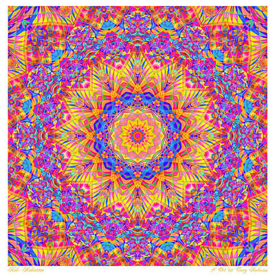 Kaleido - Rubiat 20a - Sq Art Print by Terry Anderson