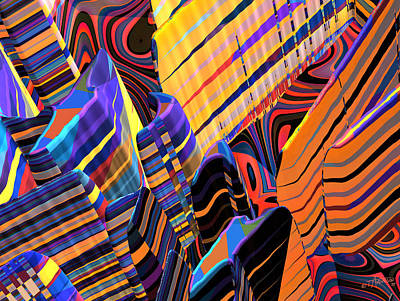 Kaleido-fa-callg. 10x11m3n10 Art Print by Terry Anderson