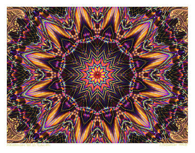 kaleido Perf10 9cAvi 44 Art Print by Terry Anderson