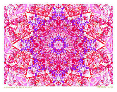 Kaleido Red Rubi 8 Art Print by Terry Anderson