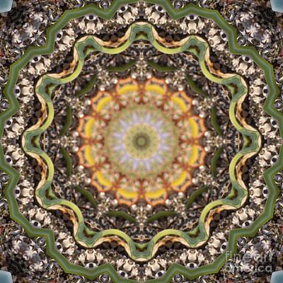 Mind Bending Digital Art - Kaleidoscope 097 by Paul Gillard