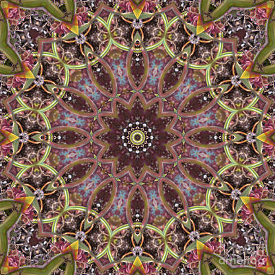 Motif Digital Art - Kaleidoscope 104 by Paul Gillard