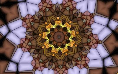 Digital Art - Kaleidoscope 116 by Ron Bissett
