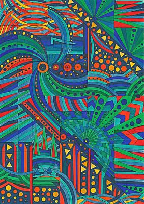 Kaleidoscope 3 Print by Ushma Sargeant