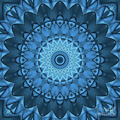 Photograph - Kaleidoscope Blue Is Good 01 by Ludek Sagi Lukac