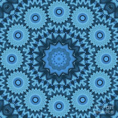 Photograph - Kaleidoscope Blue Is Good 03 by Ludek Sagi Lukac