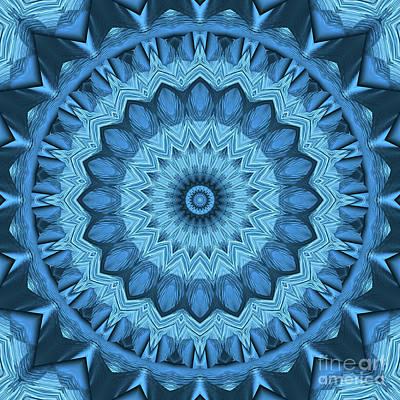 Photograph - Kaleidoscope Blue Is Good 04 by Ludek Sagi Lukac