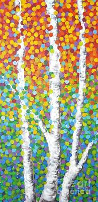 Painting - Kaleidoscope Canopy by Sandra Lett