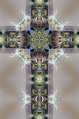 Digital Art - Kaleidoscope Cross by Francesa Miller