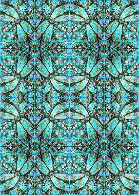 Digital Art - Kaleidoscope Dragonfly Wallpaper by Megan Walsh