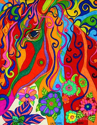 Painting - Kaleidoscope Eyes 2016 by Alison Caltrider