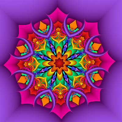 Digital Art - Kaleidoscope Flower 01 by Ruth Moratz