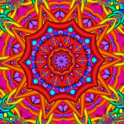Kaleidoscope Flower 02 Art Print