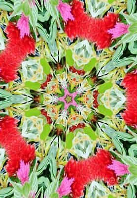 Digital Art - Kaleidoscope Flowers by D Hackett