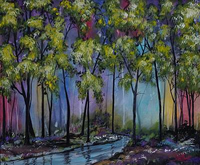 Fading Painting - Kaleidoscope Forest by Greg Lamont