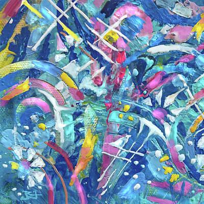 Painting - Kaleidoscope by Jean Batzell Fitzgerald