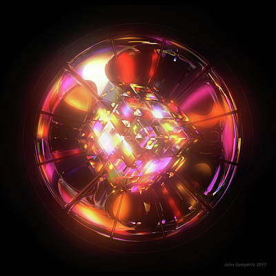 Glass Digital Art - Kaleidoscope by Jules Gompertz