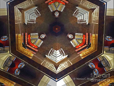 Photograph - Kaleidoscope Mirror Effect 13 by Monica C Stovall