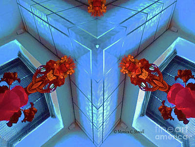 Photograph - Kaleidoscope Mirror Effect M5 by Monica C Stovall