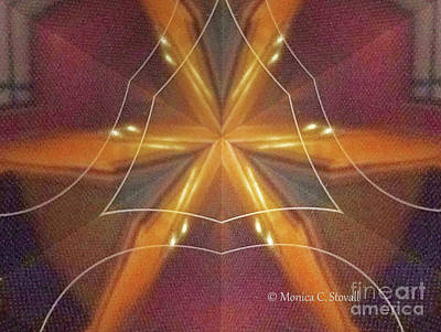 Photograph - Kaleidoscope Mirror Effect M7 by Monica C Stovall