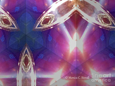 Photograph - Kaleidoscope Mirror Effect M8 by Monica C Stovall