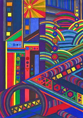 Kaleidoscope No2 Print by Ushma Sargeant