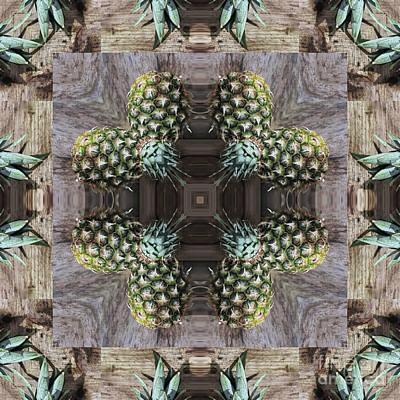 Pineapple Digital Art - Kaleidoscope O Forty Three by Paul Gillard