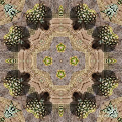 Pineapple Digital Art - Kaleidoscope O Forty Two by Paul Gillard