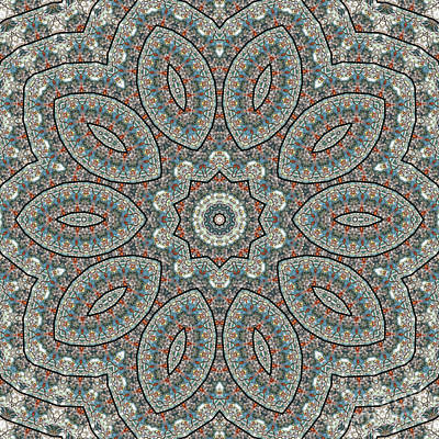 Moorish Digital Art - Kaleidoscope O Seventy Three by Paul Gillard