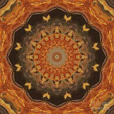 Mind Bending Digital Art - Kaleidoscope O Thirty One by Paul Gillard