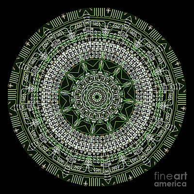 Digital Art - Kaleidoscope Of An Actual Circuit Bard by Amy Cicconi