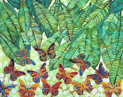 Kaleidoscope Of Butterflies Art Print by Caroline Street