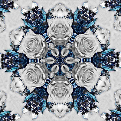 Digital Art - Kaleidoscope Of Roses Caleidoscopio De Rosas  by Femina Photo Art By Maggie