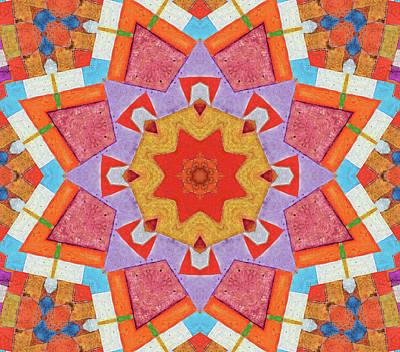 Kaleidoscope Painted Wood Art Print