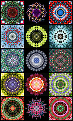 Digital Art - Kaleidoscope Patchwork 1 by Wendy Wilton