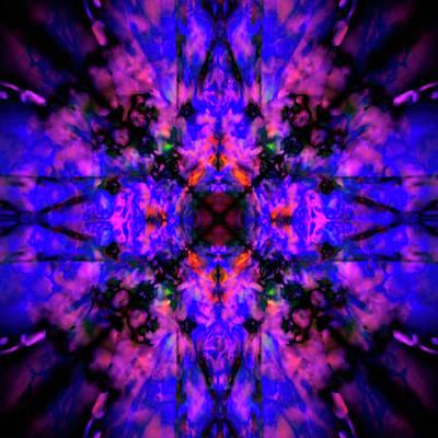Digital Art - Kaleidoscope Star by Steve Ball