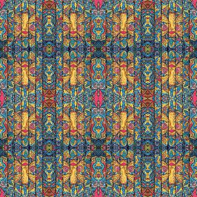 Digital Art - Kaleidoscope Wallpaper Sun 7 by Megan Walsh