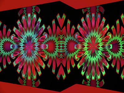 Digital Art - Kaleidoscope Walls by Mike Breau