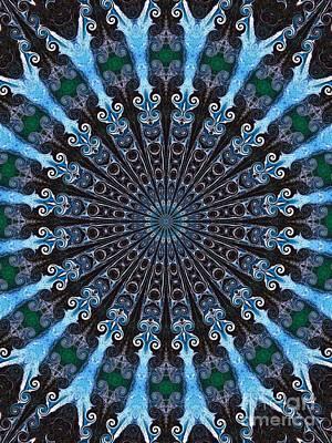 Kaleidoscope Water Swirl Art Print