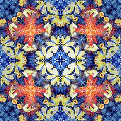 Digital Art - Kaleidoscopia - Delft Blue by Frans Blok