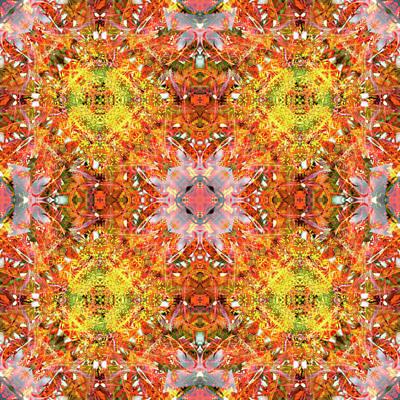 Digital Art - Kaleidoscopia - Liquidambar Red by Frans Blok